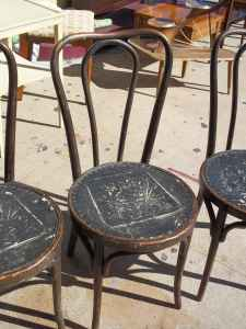 4 ice cream parlour chairs
