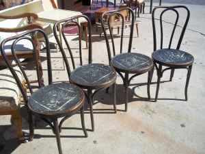 ice cream parlour chair closeup